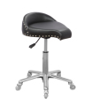 High Quality Saddle chair Beauty salon saddle stool With ergonomic Backrest
