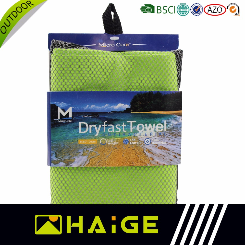 Made-in-china promotional Colorful microfiber sports travelling beach towels