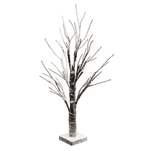 Table Top Decoration 4.5v 24LEDs 24 Inch Snow Covered Lighted Tree