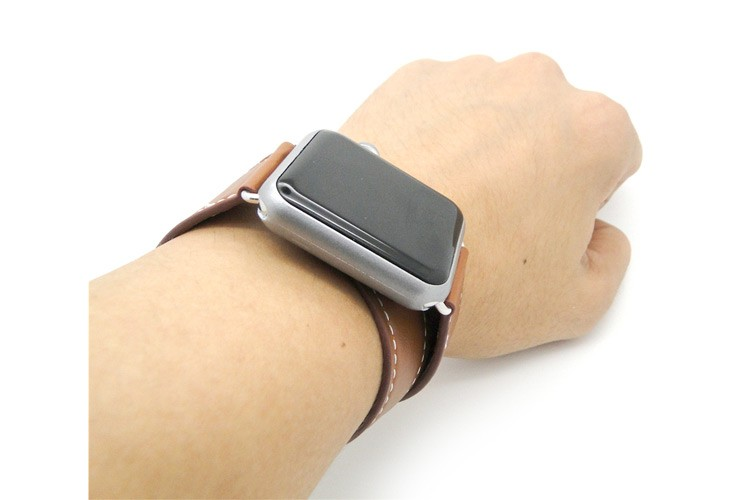 Beautiful and unique genuine leather watch hand band for iwatch