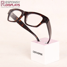 Countertop Eyeglass Display Stand Glasses Frame Wood Cube