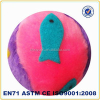 Custom cheap plush rounded circular balls for dog stuffed pet toy