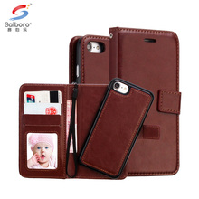 Multi function flip wallet leather mobile phone case for iphone 7plus 7 6 plus 6