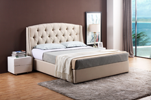 Modern high quality cheap wooden frame fancy leather furniture bed