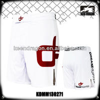 Men's boxing garment 4-way stretch printed cheap white mma shorts