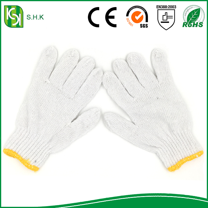 Best Price China Factory Disposable Cotton Knitting White Industrial Work Gloves Price