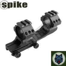"SPIKE Ar15 Ar 15 M4 Cantilever 1"" (25.4mm) Offset Scope Rings One Piece Front and Rear Tactical Cqb Battle Mount"