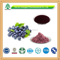 Natural Anthocyanidin 25% Vaccinium myrtillus L Chinese Bilberry Extract