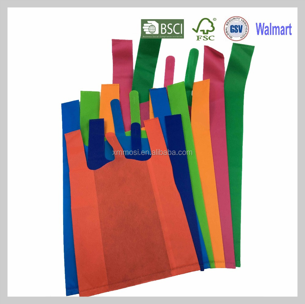 Ultrasonic die cut machine small non woven vest handle t-shirt shopping bag for supermarket