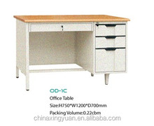 Popular wooden Top Office Table Design Reception Desk / Metal Table Frames Executive Desk / Classic Office Desk