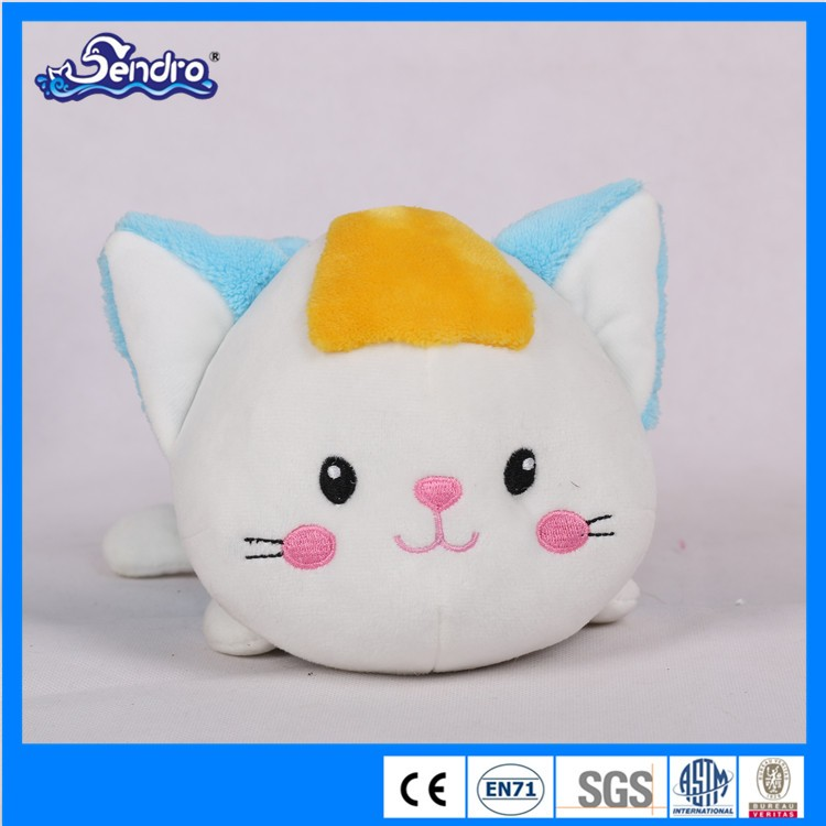 high quality lovely laying cat plush toys stuffed cat for kids