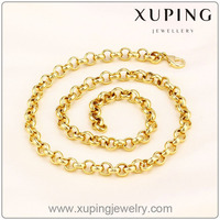41554 Xuping fashion mens necklace, 2016 gold jewellery gold, necklace man imitation jewellery necklace
