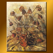 Wholesale Handmade Abstract Painted Pictures Of Flowers