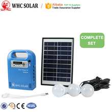 Mini portable outdoor use solar panel system lighting kit 5W