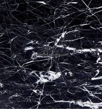 High Quality Polished Nero Marquina Marble Floor covering tiles