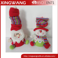 New design lovely christmas snowman santa claus with scalable hat