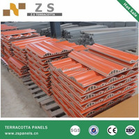 10311454 dry hanging exterior 12-40mm ZSR terracotta panels for cladding facade system