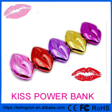 New arrival best gift sexy kiss shape power bank power supply