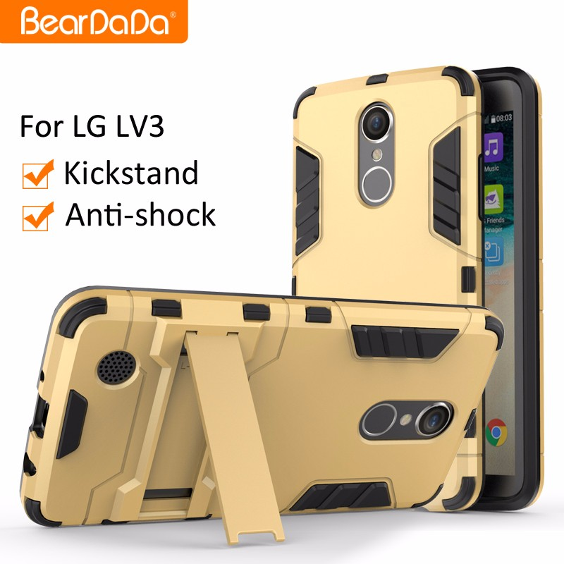 Best Selling Shockproof kickstand phone case for LG LV3