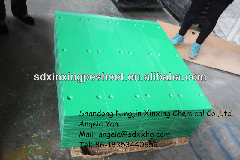 Green polyethylene uhmw Lower impact buffer plate