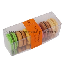 High quality clear plastic food packaging box for macaron