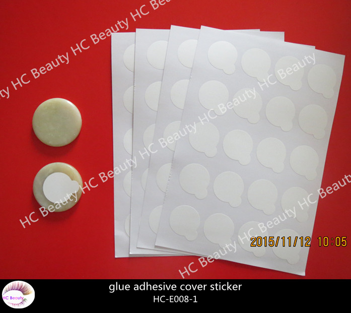 Eyelash Extension disposable stone pallet Glue adhesive cover sticker Eyelash extension