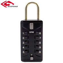 Top Security Zinc Alloy Digital Key Lock Box Smart Door Lock with Rubber Coat and Keys for Wholesale