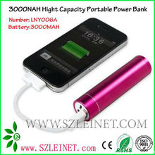 2012 New Products 3000MAH High Capacity Battery Bank Supply