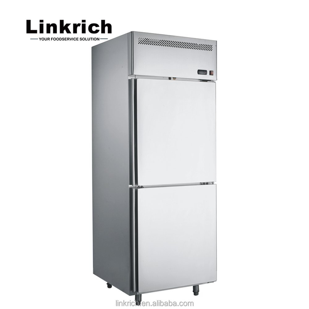 Stainless Steel Solid Door Kitchen Refrigeration Equipment