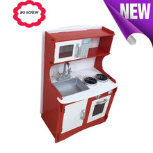 Hot Sale Wooden Kitchen Toy, No Hardware Role Play Kitchen Set, Wholesale Wooden Toy