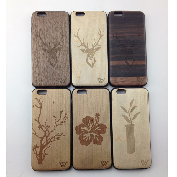 Wood + TPU Best Quality Mobile Phone Cover Case for Iphone 6 / 6 Plus