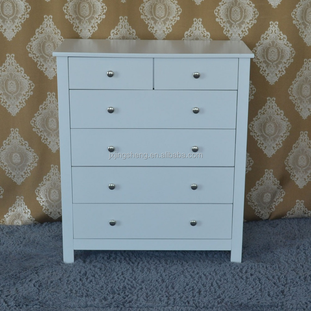 Flat pack furniture wholesale wooden knock down cheap white vanity drawer chest