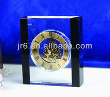 2014 Fashion Optical Clear Crystal Clock and Crystal Crafts Gifts