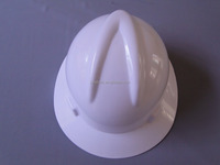 V-guard safety helmet with full brim/PE white hard hats/Ratchet helmet-Good quality and cheap price