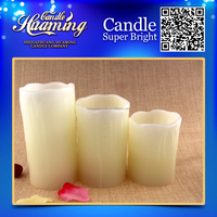 LED candle/led flameless candle/flameless moving wick led candle