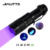 Jialitte Aluminum Zoomable 365nm Purple Light UV flashlight LED export worldwide countries F035