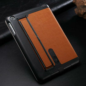 Fashionable high quality armband standing leather case for apple ipad mini