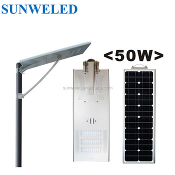 Time Control all in one led solar lamp 20w 30w 40w 50w 80w 100w 120w