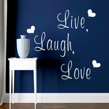 3d wall decals self adhesive wall sticker art vinyl quotes live laugh love with love heart islamic wall decal sticker home decor