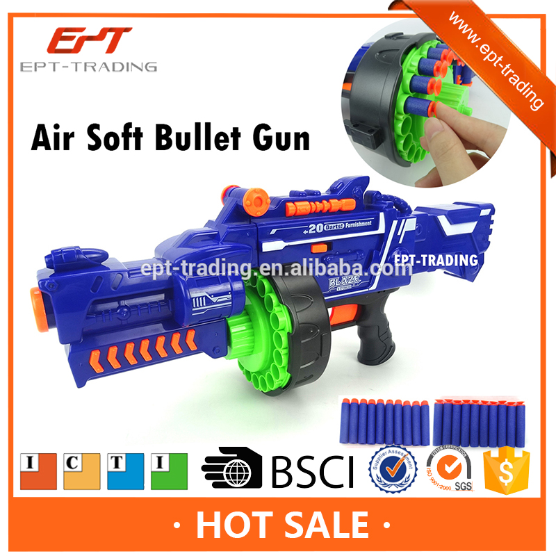 Hot selling plastic airsoft toy gun kids funny electric soft bullet gun toy for sale