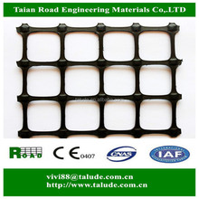 Plastic PP biaxial geogrid gg20 with CE certificate for road base reinforcement