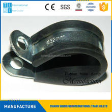 Manufacturer glass mounting rubber lined hose clamps