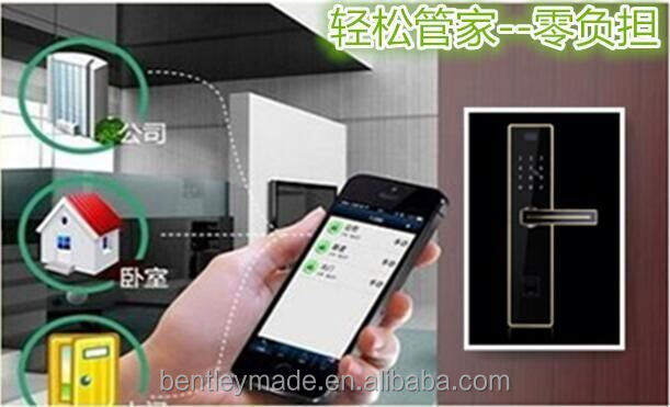 touch screen keypad and fingerprint lock