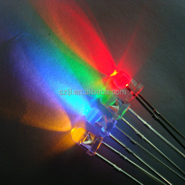 Water clear / diffused led diode 5mm 1.8-2.2V round top White, Red, Yellow, Pure Green, yellow green ,Blue, Amber, Orange color