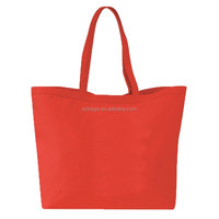 giant capacity fashionable canvas tote bag for girls / recycled cotton bag promotional / canvas shopping bag