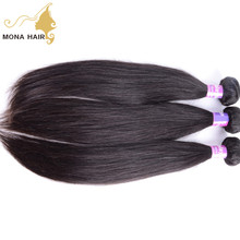 Best match hair extension with closure piece 7A silky straight Malaysian unprocessed virgin malaysian hair