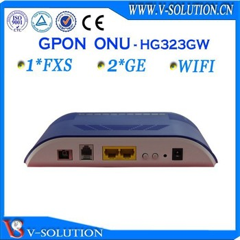 Wireless Home Gateway WiFi Router FTTH GPON ONT with 2GE+1FXS+WiFi