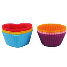 Silicone Cupcake Liners - 24 Pack Baking Cups- EIGHT colors - Reusable & Nonstick Muffin Molds - Cupcake Holders Gift set