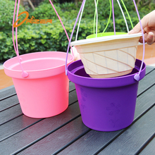 Thick plastic flower pot cheap hanging basket supplier & plastic hanging basket pot