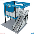 Detian offer Double deck exhibition booth for trade show, free design double deck booth for Australia